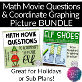 Christmas Math Movie Questions and Coordinate Graphing Mystery Picture BUNDLE!