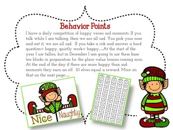 I Like What I See {Elf  Edition} Behavior Management - Freebie