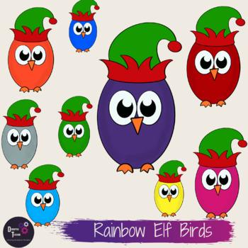 Elf Birds Clip Art Set- Perfect for Christmas Activities