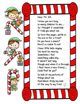Elf Book - made by YOU for your ELF!  Help your elf get to know you better!