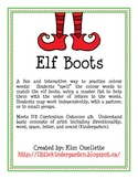 Elf Boots Making Colour Words for Christmas