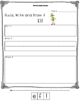 Elf- Build it, Write it, Draw it
