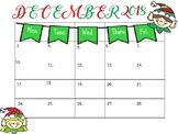 Elf Calendar FREEBIE!