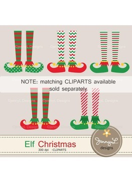 Elf Christmas Digital Papers, Christmas Tree Papers, Christmas gifts Papers