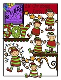 Elf Christmas Party - Christmas Clipart {Creative Clips Clipart}