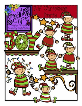 Elf Christmas Party {Creative Clips Digital Clipart}