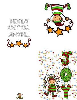 Elf Christmas Thank You Card