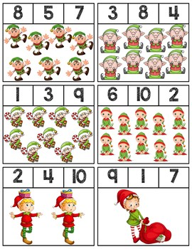 Elf Clip Cards | Numbers 1-10
