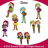 Elf Clip Art by Jeanette Baker