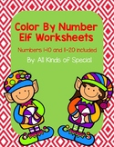 Elf Color By Number Packet