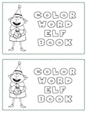 Elf Color Word Reader for Pre-k and K Holiday/Seasonal