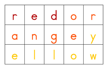 Elf Color Words Activity