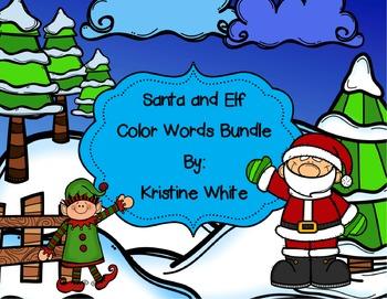 Santa and Elf Color Words Activity Bundle