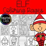Elf Coloring Pages (+writing papers) {Christmas Coloring Pages}