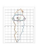 Elf Coordinate Graphing Picture in 4 Quadrants and Graph Paper