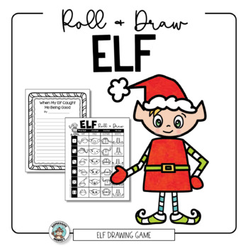 Elf Roll, Draw & Write Art Activity