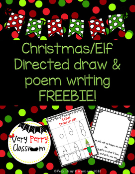 Elf Directed Draw and Poem FREEBIE!
