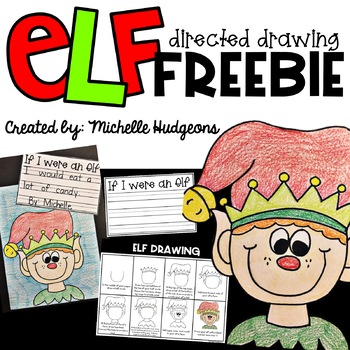 Elf Directed Drawing : Christmas FREE