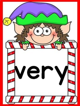 Elf Dolch Second Grade High Frequency Sight Word Posters and Flashcards
