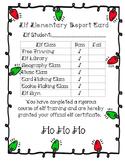 Elf Elementary Report Card