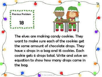 Elf Expressions & Equations with CCSS