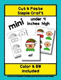 Elf Face - Cut & Paste Craft - Mini Craftivity for Pre-K &