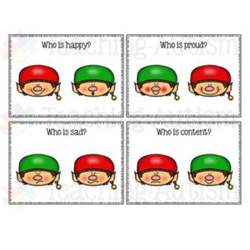 Feelings and Emotions Elf Task Cards
