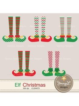 Elf Feet Christmas Clipart, Christmas Cliparts