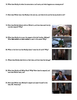 Elf Film (2003) Study Guide Movie Packet
