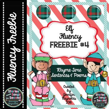Elf Fluency FREEBIE #4--Rhyme Time Sentences and Poems