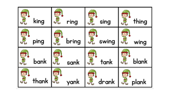 Elf Friends Word Family Sorts