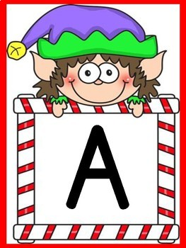 Elf Full Page Alphabet Letter Posters Uppercase and Lowercase