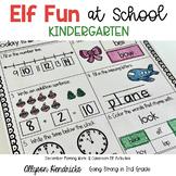 Elf Fun At School for KINDERGARTEN! December MorningWork &