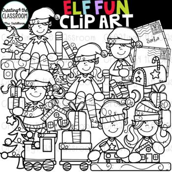 Elf Fun Clip Art {Elf Clip Art}
