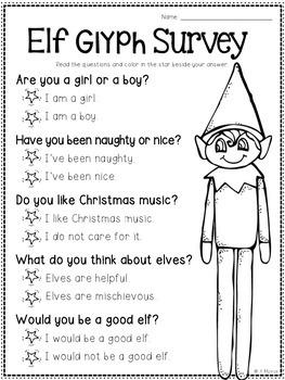 Elf Glyph {A Fun Holiday Craftivity}