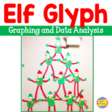 Elf Antics! Glyph, Graphs, Data Analysis, Math Task Cards and Narrative Writing