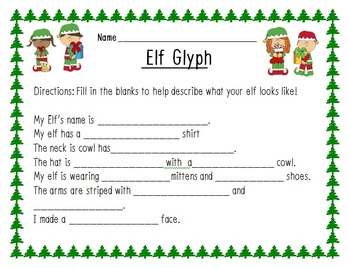 Elf Glyph with Writing Activities