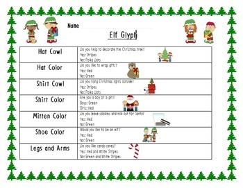 Elf Glyph with Writing Activities