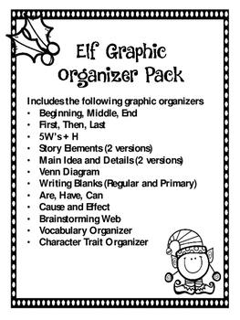 Elf Graphic Organizer Packet