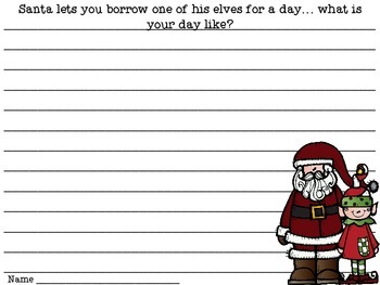 Elf Graphtivity {Combining Writing, Math & Art}