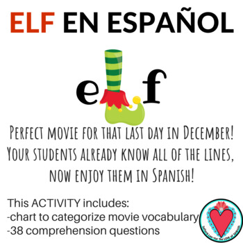 Spanish Christmas Video - Elf - Guided Notes and Questions