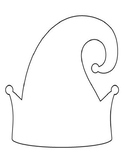Elf Hat Templates Christmas Elf Hat Coloring Pages Elf Hat Outlines Elf Hats