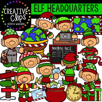 Elf Headquarters {Creative Clips Digital Clipart}