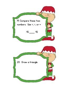 Elf Hide & Seek Math: 1st Grade