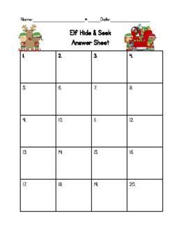 Elf Hide & Seek Math: 2nd Grade