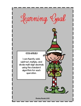 Elf Holiday Shopping Spree- CCSS 6. NS 3