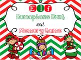 Elf Homophone Hunt and Memory Game