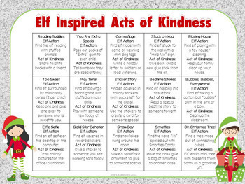 Kindness Notes from a Classroom Elf