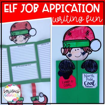 Elf Job Application - Christmas Writing Craftivity