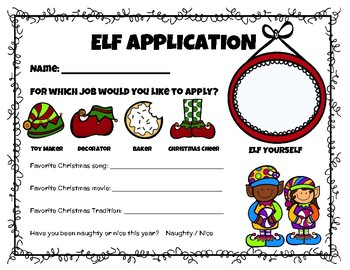 Elf Jobs Application & Activity